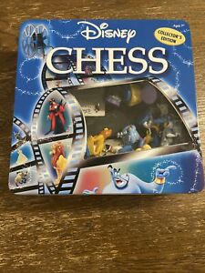 Disney Chess Set Collectors Edition Game Heroes & Villains Complete RARE