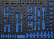 BGS Werkstattwageneinlage Weichschaumeinlage leer Steckschlüssel Satz Nüsse Bit