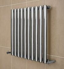 Stainless Steel Bathroom Radiator Compact Oval Tube 600 x 620mm