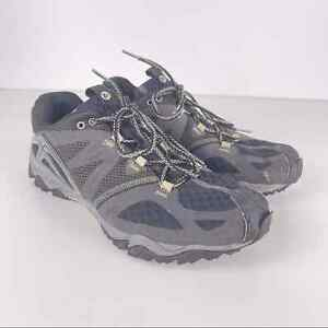 Merrell Grassbow Air Black Silver Trail Running Shoes Men's Size 10.5