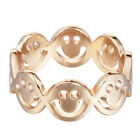 Happy Smile Face Rings Hiphop Smile Face Linked Rings for Women Fashion Rings