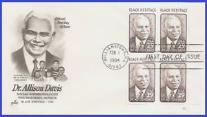 USA3 #2816 U/A ARTCRAFT FDC PB4  Dr. Allison Davis Black Heritage