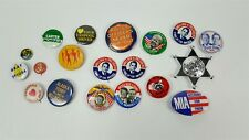 Lot of vintage pin backs pinbacks 1970's - Carter, Wallace, Ford, other fun ones