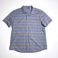 Toad & Co. XL Button Down Shirt Blue Lightweight Short Sleeve Organic Cotton Men