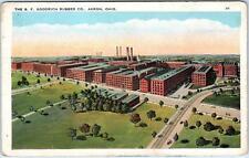 AKRON, Ohio  OH    B F GOODRICH RUBBER Co.  c1920s   Postcard
