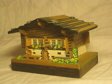 vintage wooden trinket jewelry box European Book center house wood container