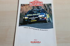 151025) Subaru SVX - Libero - Legacy - Impreza Prospekt 02/1996