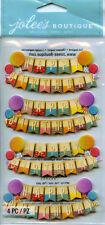 "Jolee's Boutique ""HAPPY BIRTHDAY BANNER""  Dimensional Scrapbooking Sticker AA142"