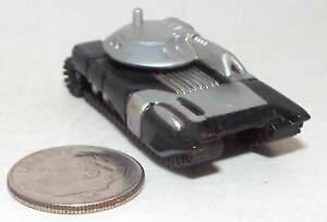 Small Micro Machine Plastic Futuristic Tank in Black & Silver
