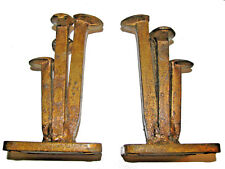 Curtis Jere Abstract vintage metal sculpture Bookends - Signed & Dated 1968