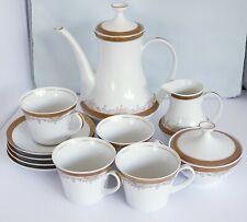 Vintage Santa Clara Porcelana White/Gold Gilded Coffee/Tea Set Spain 1970