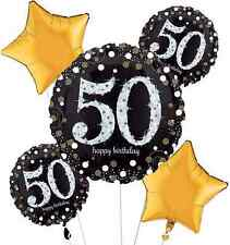 Sparkling Celebration 50th Birthday Balloon Bouquet Party Supplies Fiftieth / 50