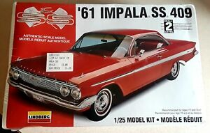 Lindberg '61 Impala SS 409 Model 72163 1:25 Scale MODEL KIT Sealed 1996