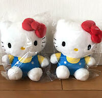 Hello Kitty Plush 2piece Set Fluffy Cat Sanrio Japan Limited Cute Figures