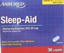 SLEEP AID Diphenhydramine 25 mg Generic Simply Sleep,  36 Caplets/pk