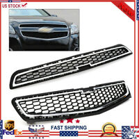 Grille For Chevy Malibu 2013 Honeycomb Mesh Chrome Upper Front Bumper
