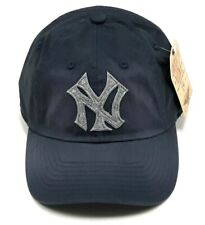 New York Yankees American Needle Cap MLB Washed Twill Strapback Slouch Blue