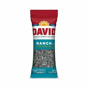 DAVID Roasted and Salted Ranch Sunflower Seeds, 1.625 oz, 12 Pack