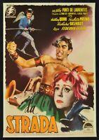 Poster Die Straße Friedrich Fellini Anthony Quinn Giulietta Masina Kino P02
