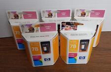 NEW FIVE Genuine HP 78 Tri-Color Inkjet Print Cartridges FACTORY SEALED EXP