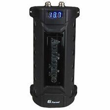 New listing Audiopipe Acap-6000 6 Farad Power Car Audio Capacitor Digital Display Black