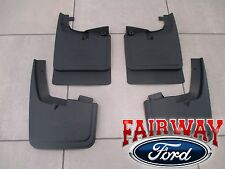 17 thru 20 Super Duty OEM Ford Splash Guard Mud Flap Set 4-pc SRW without Lips