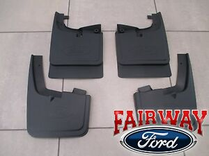 17 thru 21 Super Duty OEM Ford Splash Guard Mud Flap Set 4-pc SRW without Lips