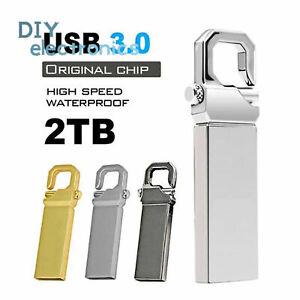 Metal USB 3.0 1TB 2TB Flash Drive Memory Stick Pen U Disk Key PC Laptop US