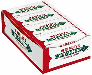 """1 Box Wrigley`s """"Spearmint"""" Chewing Gum (8 Packs x 15 Stripes = 120 Stripes) New"""