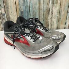 Brooks Ravenna 8 Mens 11.5 Gray Red Lace Up Running Athletic Shoes