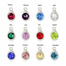 10pcs Crystal Birthstone Dangle Charms Pendant For Necklace Bracelet Jewelry
