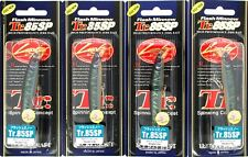 "(4) Lucky Craft Made JAPAN Flash Minnow TR.85SPR 3 1/4"" Jerkbaits Night Storm"