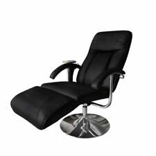 Vidaxl poltrona Massaggio elettrica reclinabile in similpelle Nera