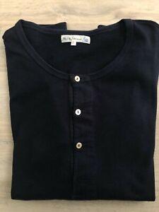 Merz b. Schwanen Knopfleistenhemd Longsleeve L (Größe 6) Herren