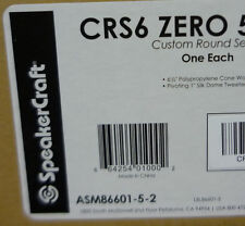 One SpeakerCraft CRS6 ZERO Main / Stereo Speaker