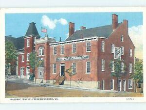 Linen TEMPLE SCENE Fredericksburg Virginia VA c6475