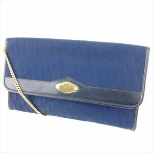 Dior Shoulder bag Trotter Navy Gold Woman Authentic Used T6724