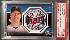 2013 TOPPS COMMEMORATIVE PATCH JOE MAUER CARD #CP-32 PSA 9 MINNESOTA TWINS