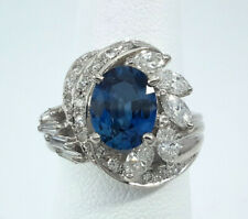 1.99ct Blue SAPPHIRE PLATINUM DIAMOND Ring - R9926
