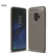 For Samsung Galaxy S6 S7 Edge S8 S9 Plus Note 8 Note 9 Carbon Fiber Slim Case