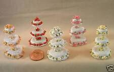 DOLLS HOUSE DELUXE MINIATURE 3 OR 4 -TIER WEDDING CAKES