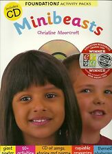 MINIBEASTS FOUNDATIONS ACTIVITY PACKS CHRISTINE MOORCROFT INCLUDES CD