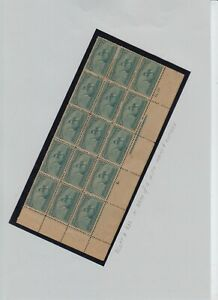 US # 232 OGLH, some PO fresh block of 15 with imprint and No, cv= $ 2200 +