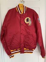 Vintage 90s RARE STARTER NFL Washington Redskins Satin Jacket XL