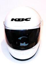 KBC TK-7 white Full Face Motorcycle Helmet - Size Medium w/ Face Shield