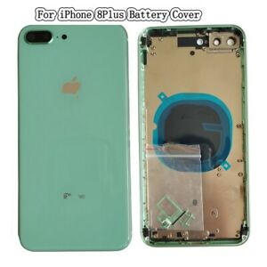 NEW For iPhone 8+ 8Plus Rear DoorBattery Cover Frame Housing Middle Bezel+Button