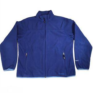 LL Bean Polartec Fleece Jacket Blue Full Zip w Zip Pockets Outdoor Women Medium