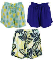 Ladies Soft Beach Shorts Marks and Spencer Patterned Elastic Waist size 14