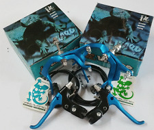 LIZARD ALLOY BMX BRAKES SET Vintage Old School Bicycle Bike Skyway 80s BLUE