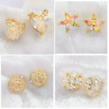 Butterfly Alloy Yellow Gold Filled Fashion Earrings
